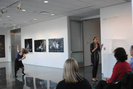 Mix of art forms (dance and poetry) at the Zuckerman Museum of Art.